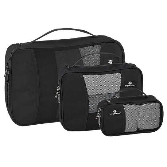Eagle Creek\\\'s Pack-It Original™ Cubes help you stay organized, while using every square inch of packing space. This set includes has 3 different sized Cubes for clothing compression, accessory organization, and quick TSA security checks. With 101 uses, what are you waiting for? Everything is right where you want it.