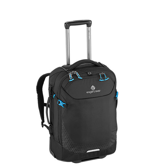 Introducing a carry-on as versatile as you are. The Expanse™ Convertible International Carry-On offers 2 ways to carry it, with zip away backpack straps for when you need to travel hands free, and wheels so you can roll it when it is convenient. There is no stopping the adventure! Roll this international sized carry-on through the airport, and then throw it on your back to hop on a train.