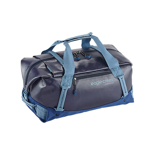 Duffels are simply the best. They are the quintessential adventure bag. Whether you\\\'re hauling camping gear or expedition packing, the Migrate Duffel will haul your gear easily with its heavy duty construction. This 40L carry-on size weighs a mere 2 lbs. and easily slings over your shoulder. Carry it on your back, haul it by your side, or jet across the airport. This duffle will soon become your best friend. Covered by the No Matter What™ Warranty.