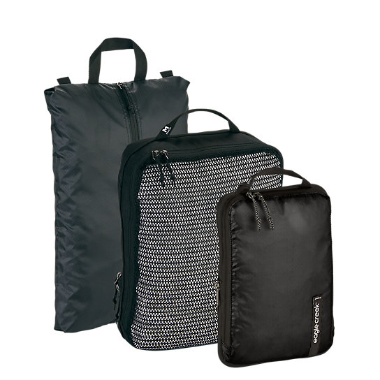 This is a must-have packing starter set for any traveler who wants to perfectly pack up their carry-on bag. It\\\'s got an antimicrobial shoe organizer for dirty shoes, medium-sized cube to separate clean from dirty items, and a small compressor packing cube to maximize your packing space. Stay organized and enjoy peace of mind with the Pack-It™ Essentials Set. It\\\'s a game-changer.