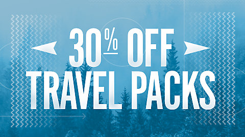 30% Off TRAVEL PACKS